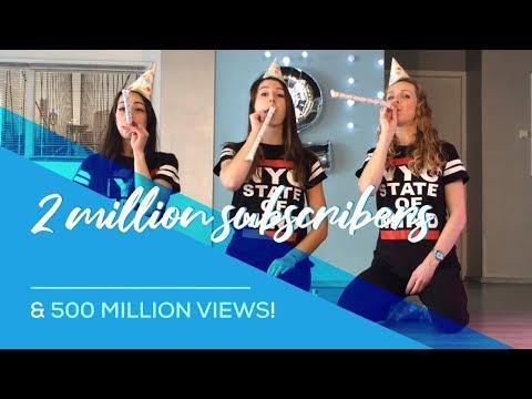 2 million subscribers & 500 million views for Saskia's Dansschool!! Thank you all!