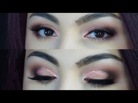 Valentines Day Makeup - Round Glitter Cut Crease  Delia Ahmed