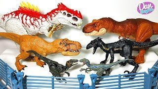 INDORAPTOR VS INDOMINUS REX! 2018 JURASSIC WORLD DINOSAURS VS 2015 DINOSAUR TOYS