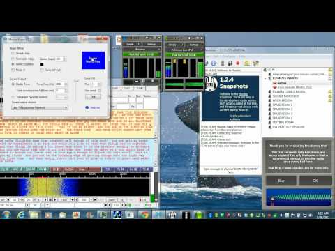 Qrq cw qso via an internet remote keyed rig using all free software