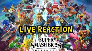 Super Smash Bros Ultimate Reveal Trailer Live Reaction (RIDLEY CONFIRMED)