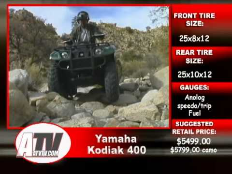 2003 Yamaha Kodiak 400 Test - ATVTV Test Video Series