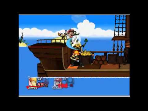 super smash flash 2 v0.8 ichigo vs mario