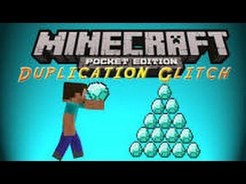 Minecraft pe duplication glitch for android 0.8.1