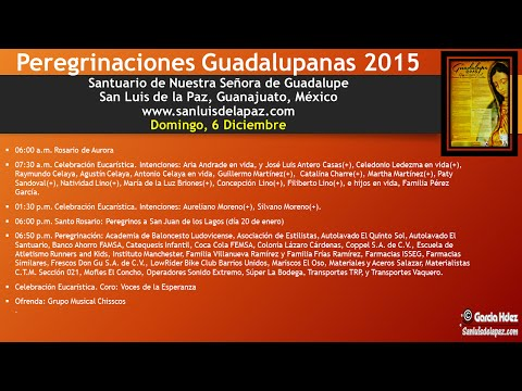 06Dic2015 - En Vivo Peregrinaciones Guadalupanas 2015 - San Luis de la Paz, Gto.