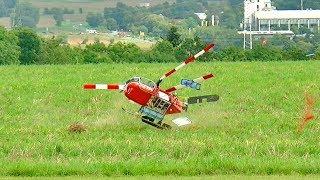 BRUTAL RC HELICOPTER CRASH !!! LAMA SA-315B TURBINE MODEL HELICOPTER FATAL END TOTAL DESTROYED