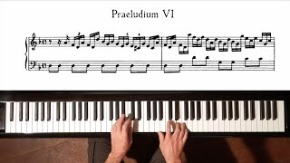 Bach Prelude and Fugue No.6 (Fast Tempo) Well Tempered Clavier, Book 1 with Harmonic Pedal