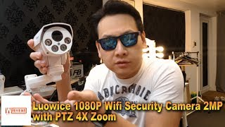 Luowice 1080P Camera 2MP with PTZ 4X Zoom Wifi Security Camera Part 1