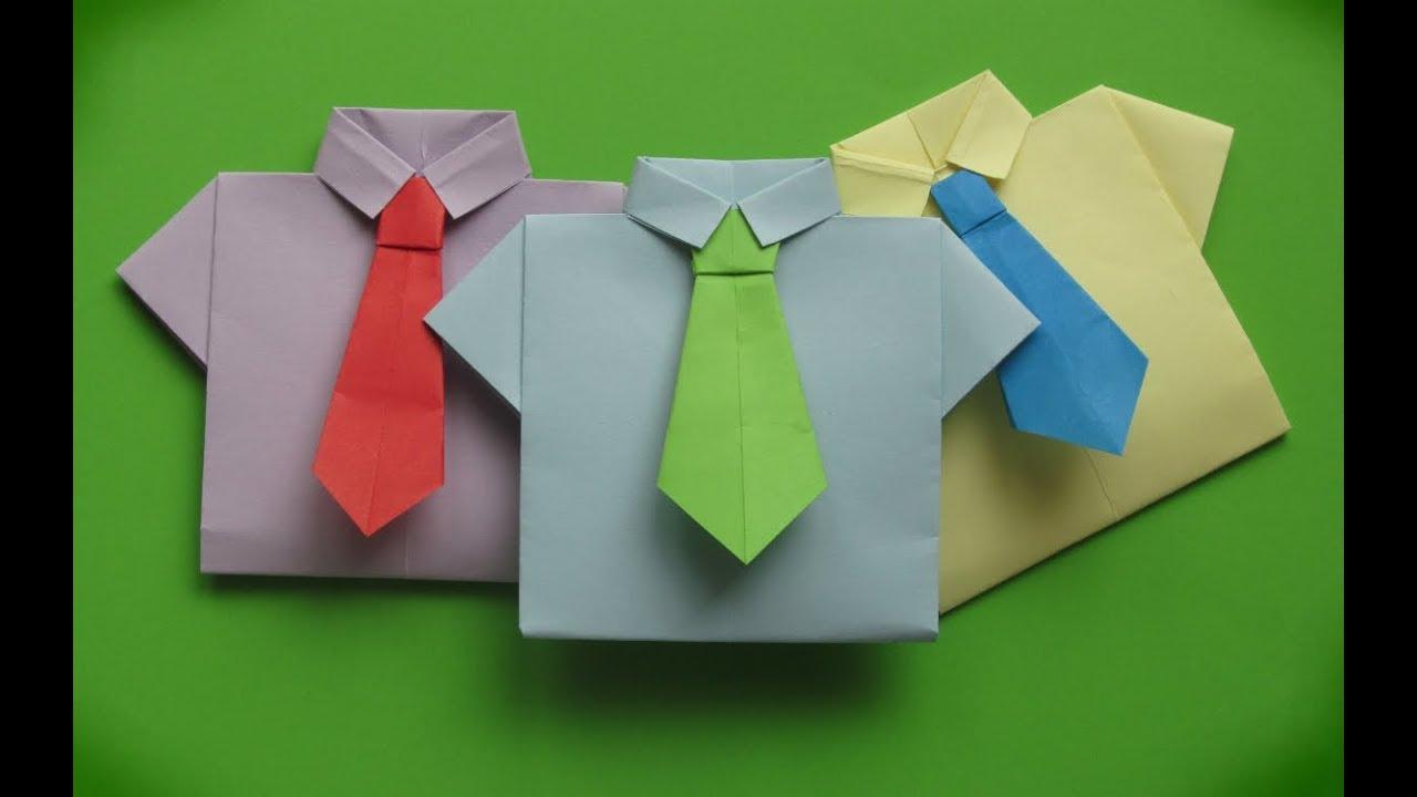 Открытка с рубашками из оригами 996