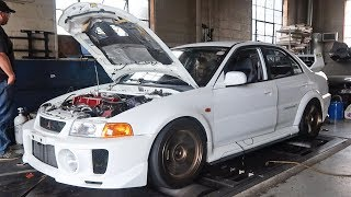 EVO 5 GETS TUNED ON THE NEW TURBO!