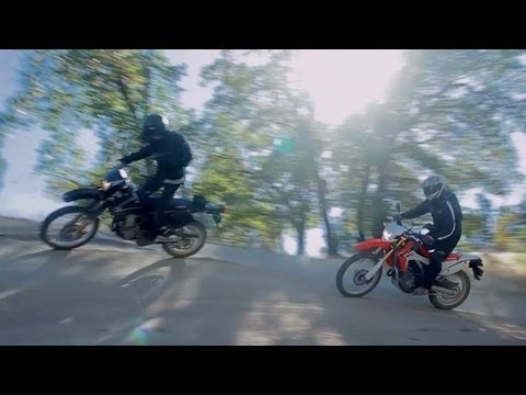 Dual-Sports: Honda CRF250L vs Suzuki DR-Z400 -- RideApart
