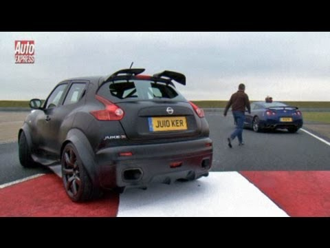 Nissan Juke-R vs GT-R track test - Auto Express Music Videos