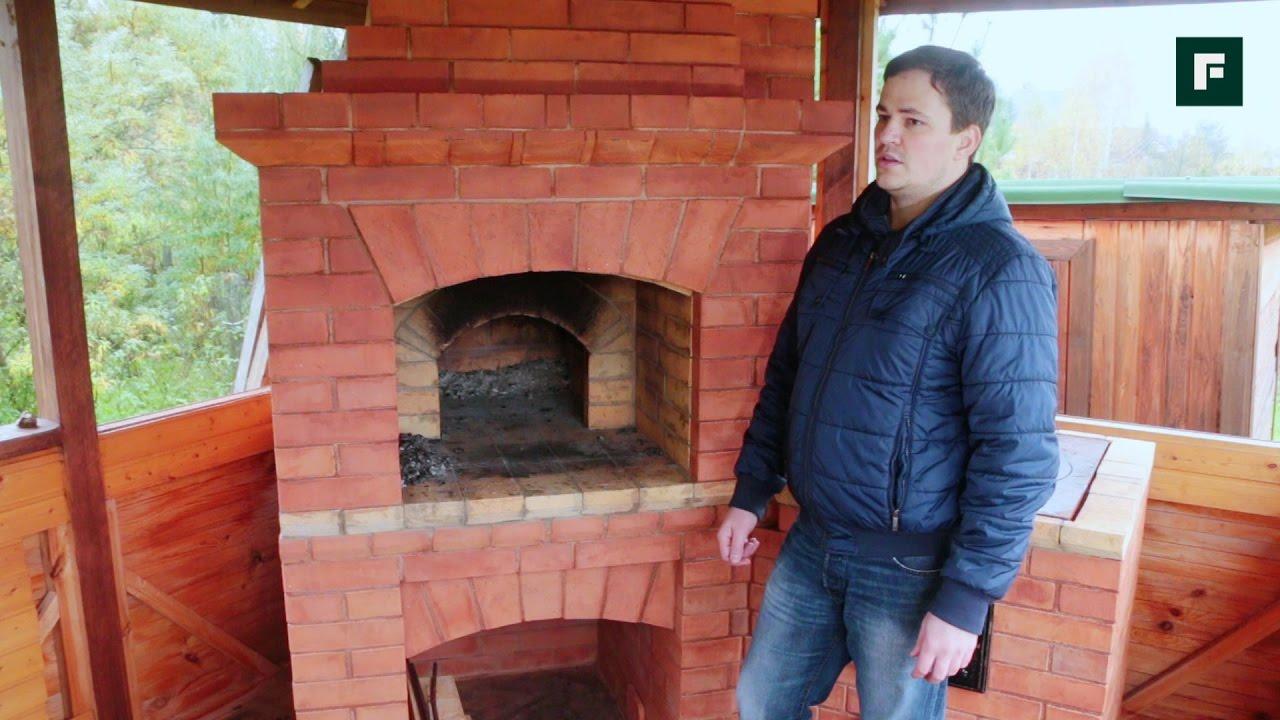 Барбекю с русской печью своими руками