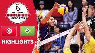TUNISIA vs. BRAZIL - Highlights | Men's Volleyball World Cup 2019