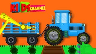 Tractor Toy Factory | Cartoon Vehicles Video For Toddlers by Kids Channel