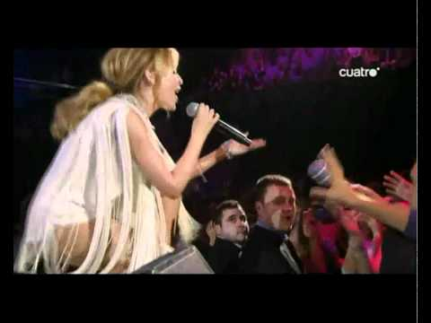 Kylie Minogue performing live at Premios 40 Principales in Madrid (Spain)