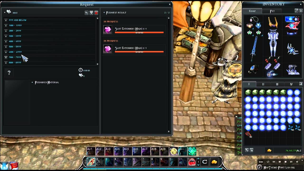 cabal online slot extender highest drop
