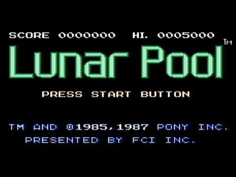 Lunar Pool - NES Gameplay