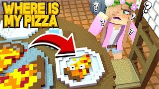 WHERE is my PIZZA?! | Minecraft Custom Hide and Seek Little Kelly