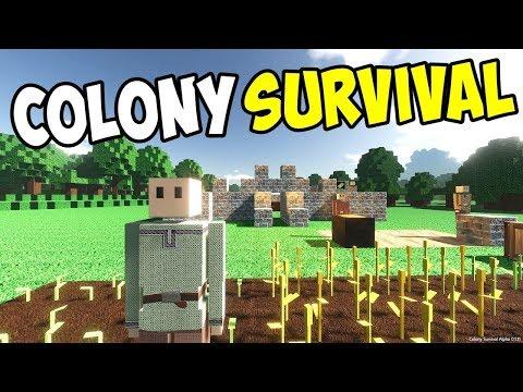 СOLONY SURVIVAL  #1  -  СТРОИМ  КОЛОНИЮ