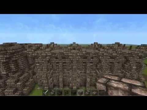 Medieval Minecraft Big Wall Hanging Elven Build