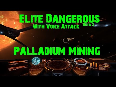 Elite Dangerous Beta 3 (With VoiceAttack) - Palladium Mining