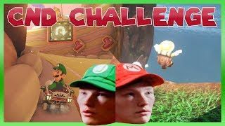 CND Challenge! | Mariokart 8 and Mario Odyssey WITHOUT Being Able to See