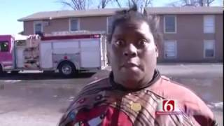 Woman Gives Funny Interview After A Fire!