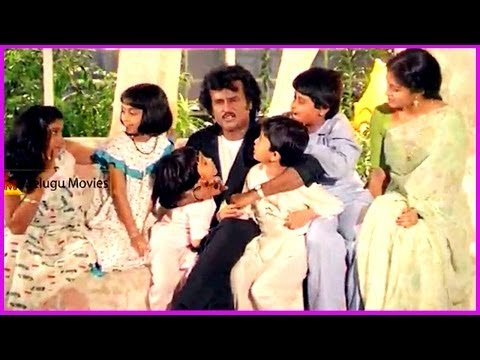Rajinikanth Enjoying With Childrens - In Raja Chinna Roja Telugu Movie video