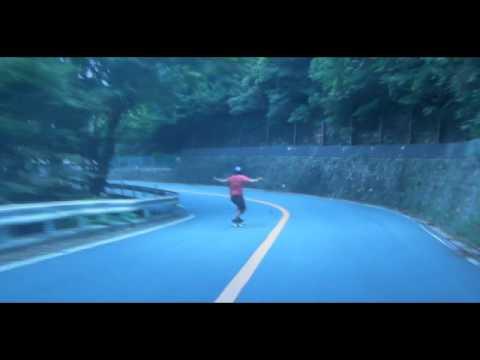 Restless Longboards - Freeriding down Mount Rokko (Japan) Raw Run