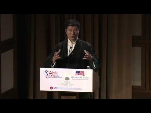 Sikyong Lobsang Sangay spoke at George W. Bush Presidential Center