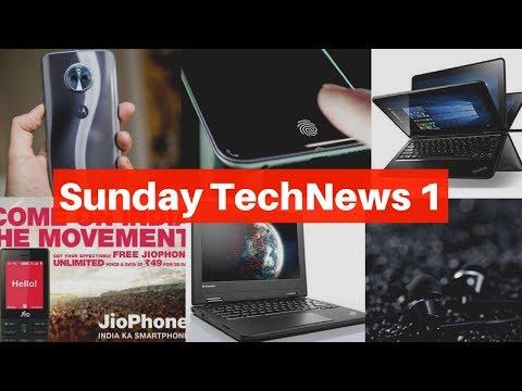 Sunday TechNews 1 - Vivo X20 Plus UD, Lenovo New laptops,1More New Headphone, Jio New Plan, Moto X4.