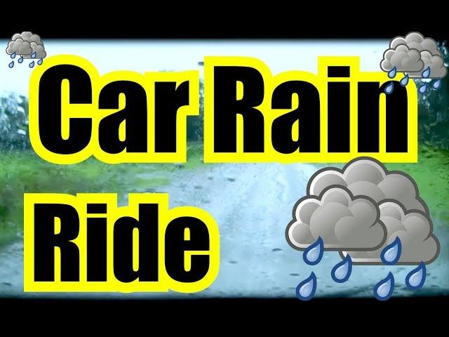 SLEEPING RAIN RIDE in the CAR ~ 9 Hours of Relaxing Ambience w/ DARK SCREEN