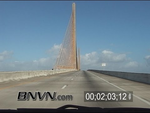 1/14/2006 Skyway Bridge Video from Tampa - St. Petersburg Florida