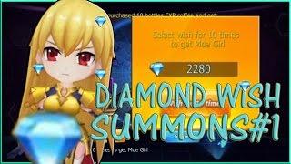 ANIME GIRLS GO - DIAMOND WISH SUMMONS #1 (FIRST 4 STAR SUMMON!!)
