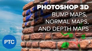 Photoshop 3D - Understanding Depth Maps, Bump Maps, and Normal Maps