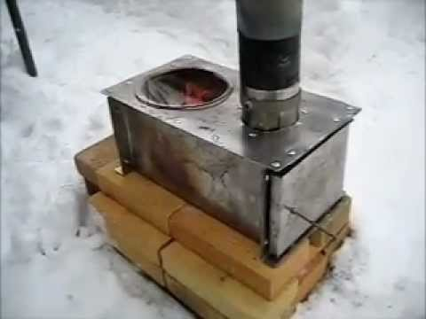 Rocket Stove Ideas 11 Horizontal Cook Stove Wmv Youtube