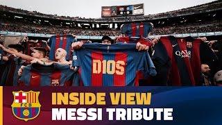 Behind The Scenes Camp Nou Hails Leo Messi On 500 Goal Milestone