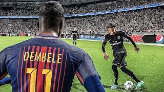 Neymar JR (PSG) vs FC Barcelona - PES 2018 HD
