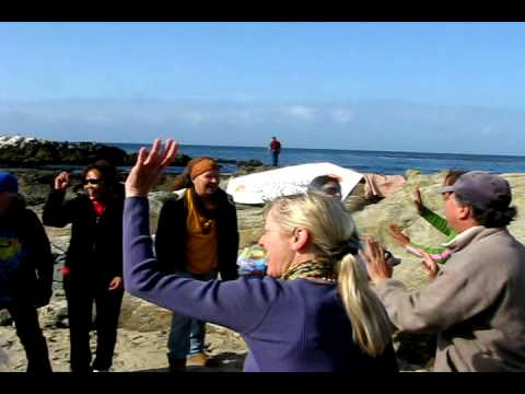 WORLD LAUGHTER DAY - Laguna Beach Laughter Club, CA   May 2, 2010 filmed by Ross Costa