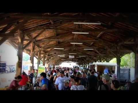 France les produits bio du pays Basque marché de Saint-Jean-Pied-de-Port