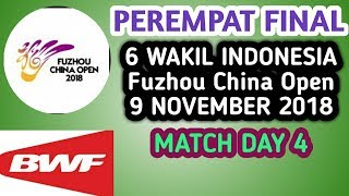 Live Score Perempat Final Fuzhou China Open 2018 09 November 2018l Day 4