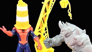 Marvel Ultimate Spider-man Sinister 6 Rhino Rampage Set With Funny Spiderman Bloopers