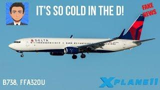 X-PLANE 11 - SO COLD IN THE D - KDTW KBUF KJFK - B738, FFA320U - VATSIM!
