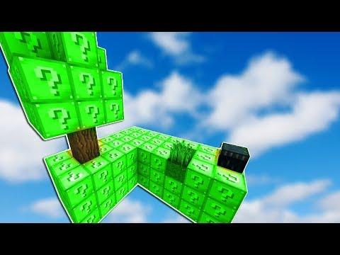 UZAY'a ÇIKAN ŞANS BLOK ADASI ( EFSANE ) - Minecraft