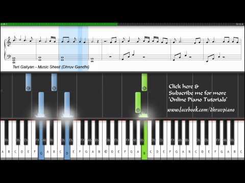 Teri Galiyan - Ek Villain   (Piano Tutorial/Lesson + MusicSheet + MIDI) │▌▌│