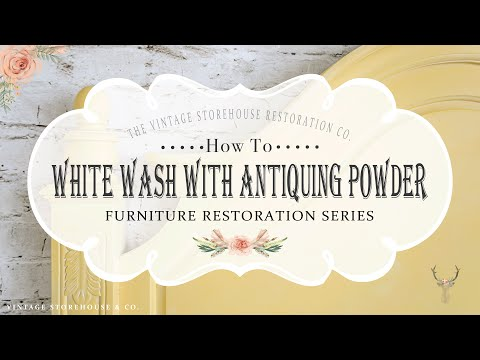 How to White Wash Furniture with VS Antiquing Powder