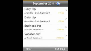 iPhone App Overview: SAP Carbon Tracker