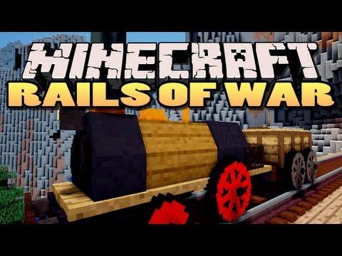 Minecraft: Rails of War Mod | Trains!