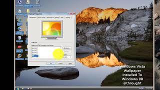 Windows 98 Transformed into Windows Vista